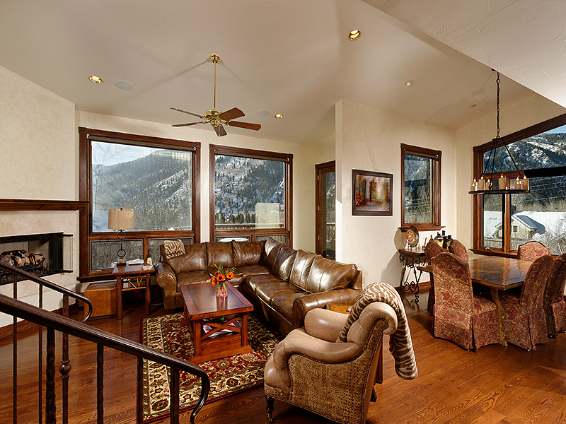East Aspen Half Duplex Living Room